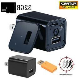 Small HD 1080P Camera USB Wall Charger Video Recorder Survei