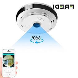 FREDI IP Camera WiFi 960P HD 360 Degree Panoramic Wireless F