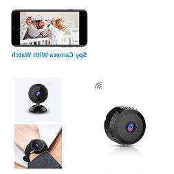 Mini Spy Camera with Watch WiFi Hidden Camera AOBO Wireless