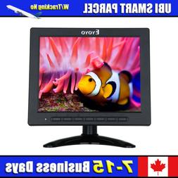 "8"" LCD Monitor BNC VGA HDMI AV USB Video 1080P Security For"