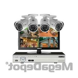 Lorex MPX84MW, HD Complete 4 Camera Home Security System w/