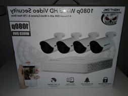 NEW Night Owl 4 Channel DVR Security System with 4 1080p Cam
