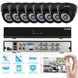 KKmoon Home Surveillance Camera System,8 Channel NVR HD 960H