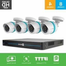 EZVIZ 4MP 8 Channel NVR Outdoor PoE Security System w/ 4 HD
