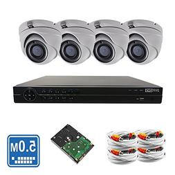 OEM Hikvision 8 Channel 4K 5-Megapixel  , 4pcs 5MP 1920p 3.6