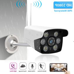 Outdoor 1080P Wireless Wifi P2P ONVIF IP Camera IR Night Vis