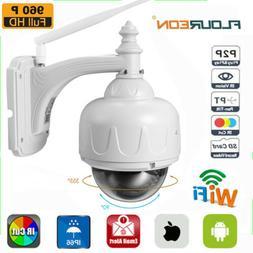 FLOUREON Outdoor PT 960P Wireless WiFi IP Dome Camera CCTV S