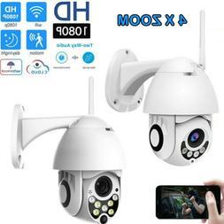 Outdoor Waterproof WiFi PTZ 1080P HD Security CCTV IP IR Cam