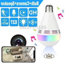 360 degree Panoramic 960P Hidden wifi Camera Light Bulb Mini