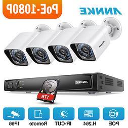 ANNKE POE 4CH 6MP NVR 2MP 1080P HD Video IP Security Camera