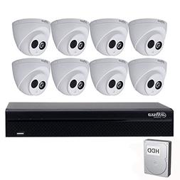 Dahua 6MP 8 Channel POE IP Security Camera System, 6MP POE N