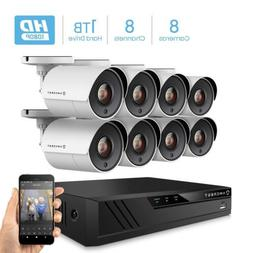 Amcrest ProHD 1080P 8CH Video Home Security Camera System 1T