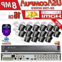 hikvision 4K Security System 16 Channel 5MP Cameras KIT 2.8m