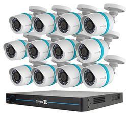 EZVIZ QUAD HD 4MP Outdoor IP PoE Surveillance System, 12 Wea