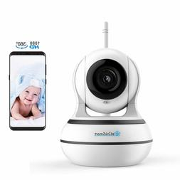 Rotate WiFi Camera 1080P Home Security Night Vision baby mon