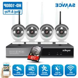 SANNCE 1080P/720P Security Camera System Wireless 8CH NVR Ou