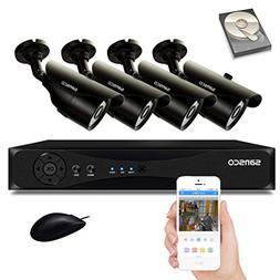 sansco cctv security camera system 4 channel 1080n smart dvr