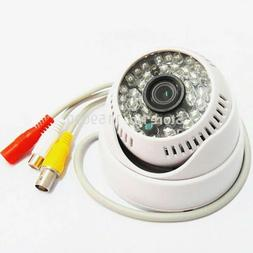 Security 48LEDs IR CCTV Color Dome Audio White Camera Day an
