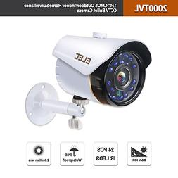 "Security Camera,1/4"" CMOS 720P HD 2000TVL Outdoor/Indoor H"