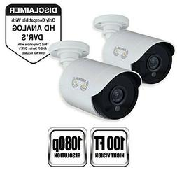 Security Bullet Surveillance Cameras HD Wired Night Owl 2 Pa