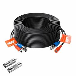 ZOSI CCTV Security Camera BNC Cable 100ft Wire Cord Video Po