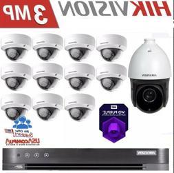 Hikvision Security Camera System 11-Cameras 1-PTZ DS-  3MP O
