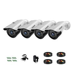 TMEZON 4 Pack AHD Camera 1080P Security Camera Set 2.0MP 3.6