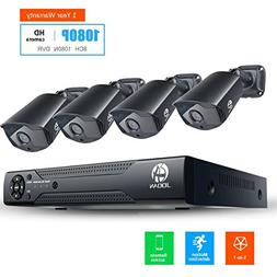 JOOAN Security Camera System 8CH 1080N DVR 4 X 1080P Weather