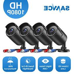 SANNCE Security Camera System HD 4-Pack 1080P Surveillance C