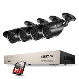 ZOSI 8-Channel Full 1080p HD-TVI Outdoor Surveillance System