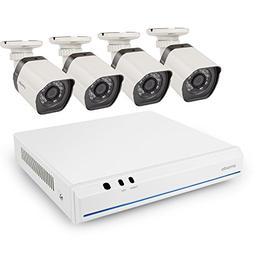 Zmodo 720p HD sPoE System- 8CH HDMI NVR 4 IP Network Outdoor