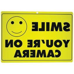 Smile Your on Camera Surveillance Sign- CCTV Camera, Securit