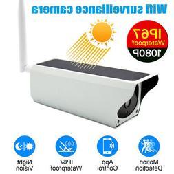 Solar Power Wireless Security System 1080P Outdoor WiFi IP C