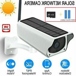 Solar Powered IP Camera 1080p WiFi Ip67 Night Vision Securit