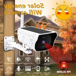 Wireless Solar Outdoor WiFi IP Camera 1080P HD Security Surv