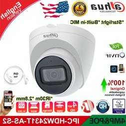 Dahua Starlight 4MP IP Camera IPC-HDW2431T-AS-S2 MIC IVS POE