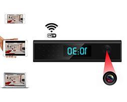 Mengshen 1080P HD Super Mini WIFI Camera - Clock Style Night
