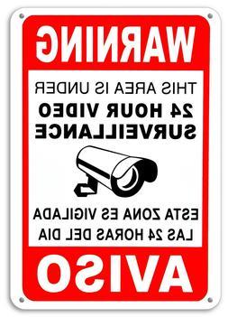 surveillance signs security cctv
