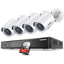 ANNKE Surveillance Camera System, 1080P 8CH DVR Home Securit