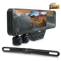 Multi Dash Cam Video Recording System - Rearview Backup & Dr