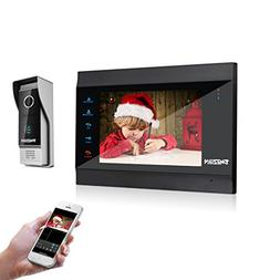 TMEZON 7 Inch Wireless/Wired Video Door Phone Wifi IP Doorbe