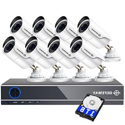 DEFEWAY 1080P Home Security Camera System, 8 Channel 5-in-1