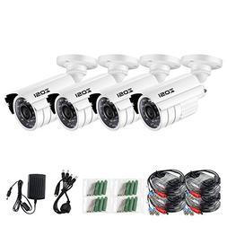 ZOSI 720P HD-TVI Home Surveillance Camera System,4PCS Indoor