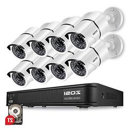 ZOSI 8-Channel HD-TVI 1080p Security Camera System,Surveilla