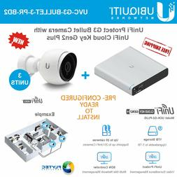 Ubiquiti UniFiProtect G3 Camera 3PACK PRE-CONFIG w/ UniFi
