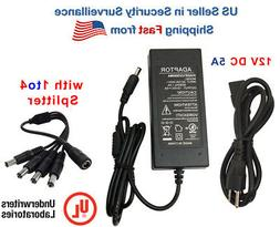 EVERTECH UL Certified 12V DC 5A Amper 5000 mA Power Adapter