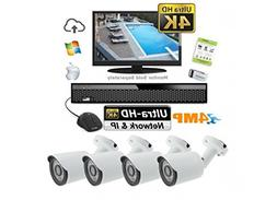 Ultra 4 MP HD Outdoor Surveillance Camera Kit - 4 Weather Re