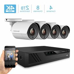 Amcrest UltraHD 4K 8CH Video Home Security Camera System wit