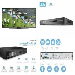 Amcrest 4K UltraHD 16 Channel DVR Security Camera System Rec