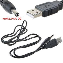 ABLEGRID New USB PC Power Supply Charging Charger Cable Cord